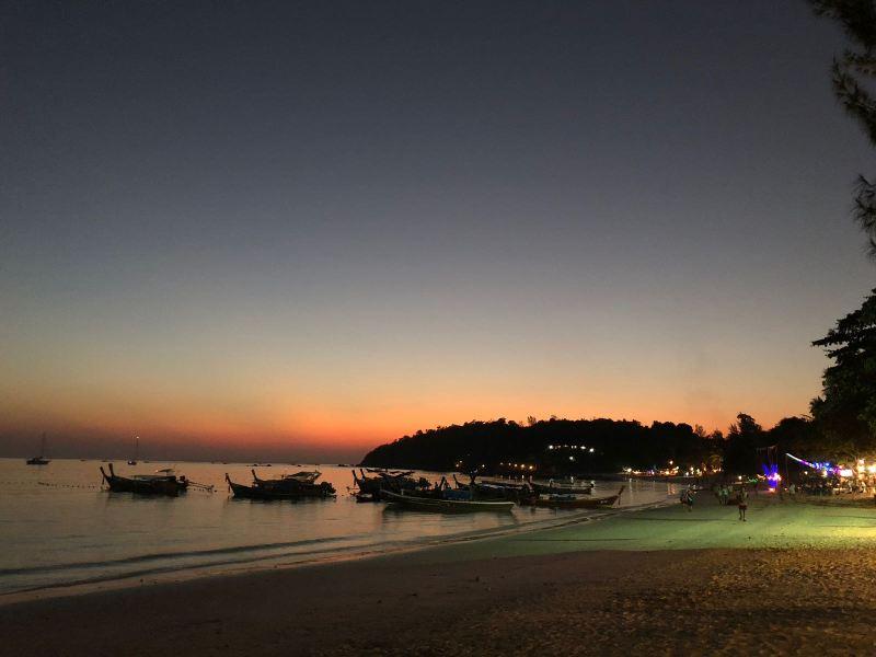 Sunset at Pattaya Beach